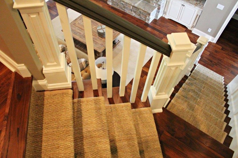 Plumber Warner Robins Ga   Transitional Staircase  and Transitional