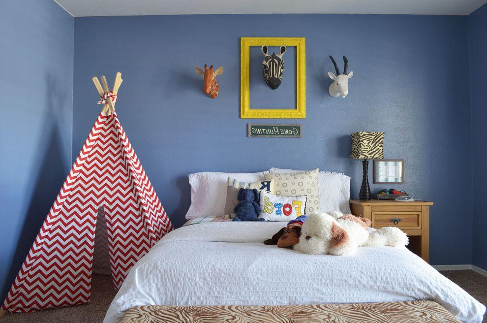 Plumbers Tyler Tx with Traditional Kids  and Animals Bedroom Blue Boys Bedroom Carpet Chevron Print Name Pillow Safari Teepee Tent Texas Yellow Frame Zebra Head