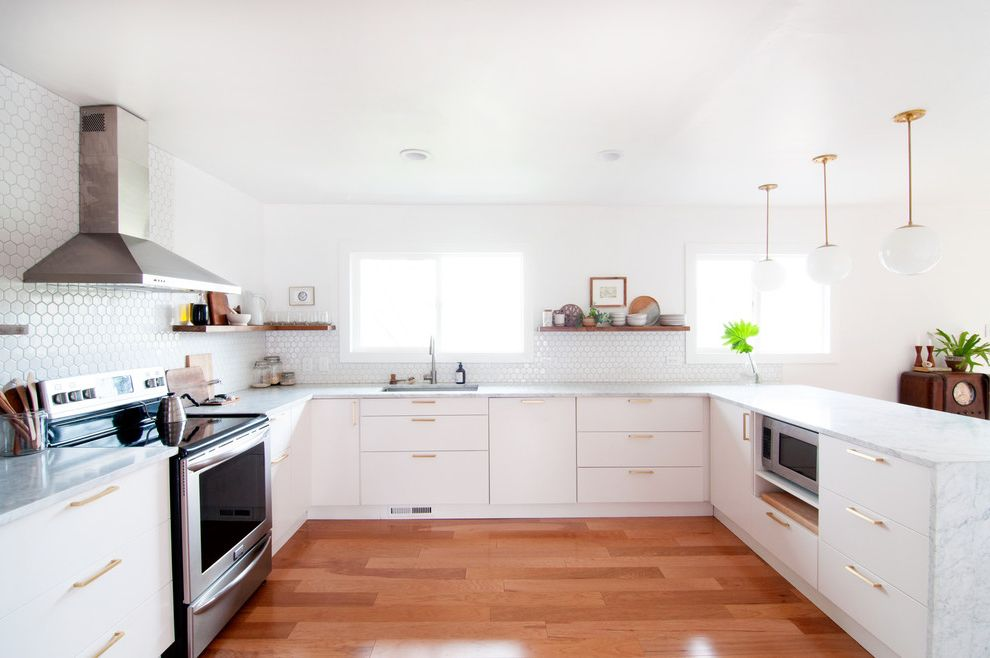 Plumbing Supply Austin With Midcentury Kitchen And