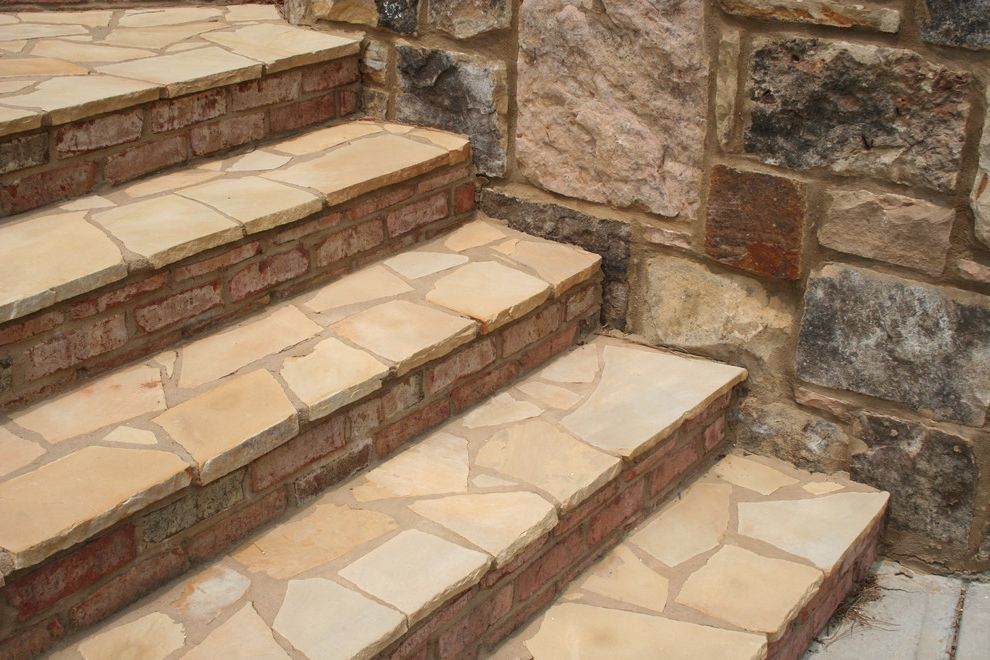 Plumbing Supply Marietta Ga with Traditional Spaces  and Crab Orchard Flagstone Landscape Landscape Architecture Landscape Design Outdoor Staircases Steppers Steps Stone Stone Supplier Stone Vendor