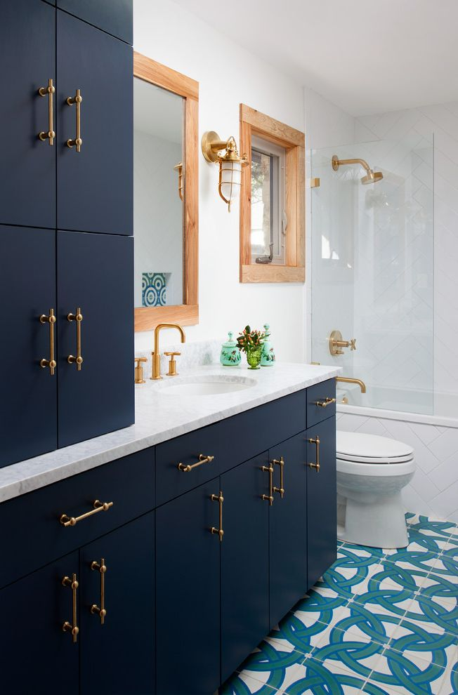 Polished Brass Shower Fixtures   Transitional Bathroom Also Transitional