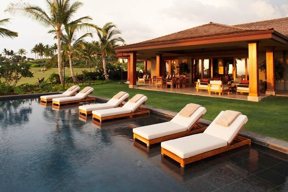 wood patio with pool. Pool Chaise Lounge Chairs Sale With Tropical Also Beige Outdoor  Cushions Patio Floor Column Covered Grass Lawn Palm Wood Patio Pool