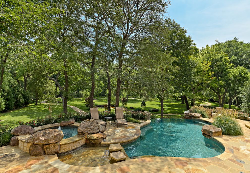 Pools in Fayetteville Nc   Traditional Pool Also Garden Seating Grass Lawn Ornamental Grass Rock Spa Stepping Stone Wading Pool