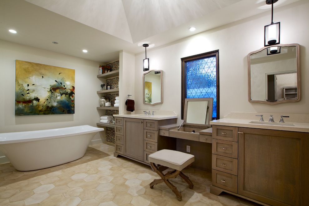 Pop up canopy with sides with mediterranean bathroom also bathroom bench double vanity dressing for Mediterranean bathroom lighting