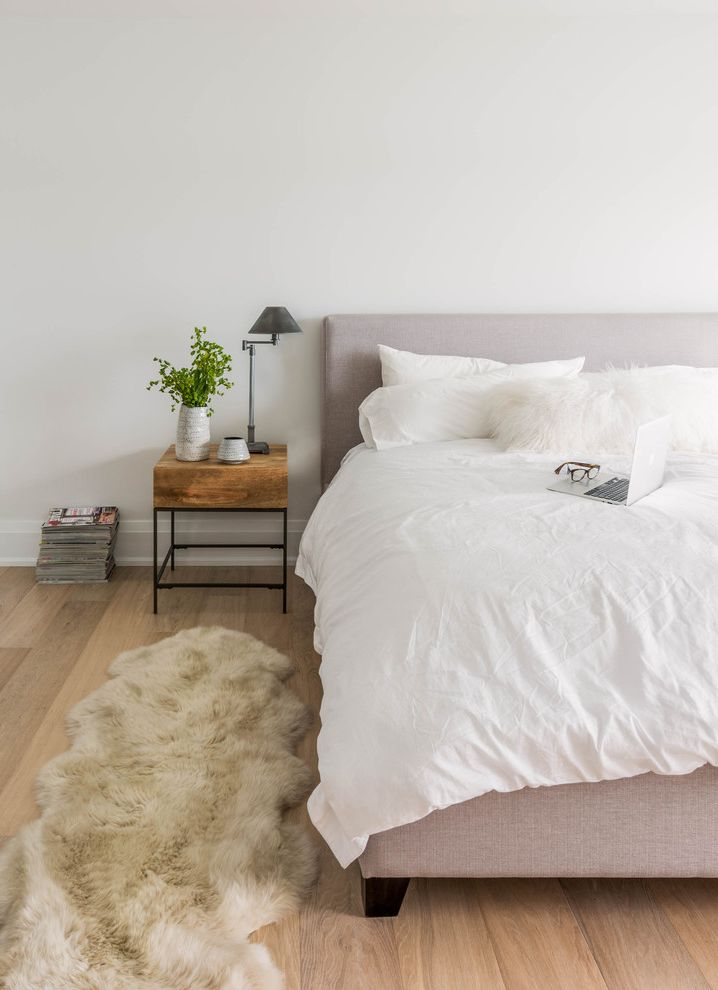 Pop Up Canopy with Sides with Scandinavian Bedroom  and Beach Cottage Beachfront Master Bedroom Mhouse Modern Sheepskin Rug Shirley Meisels Upholstered Bed White Bedding Wood Side Table