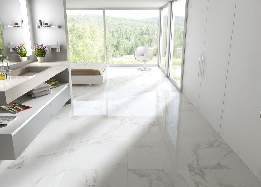 Porcelain Tile That Looks Like Marble    Bathroom  And