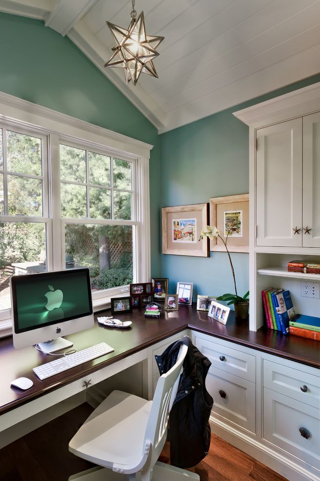 Pottery Barn Secretary Desk with Traditional Home Office and ...