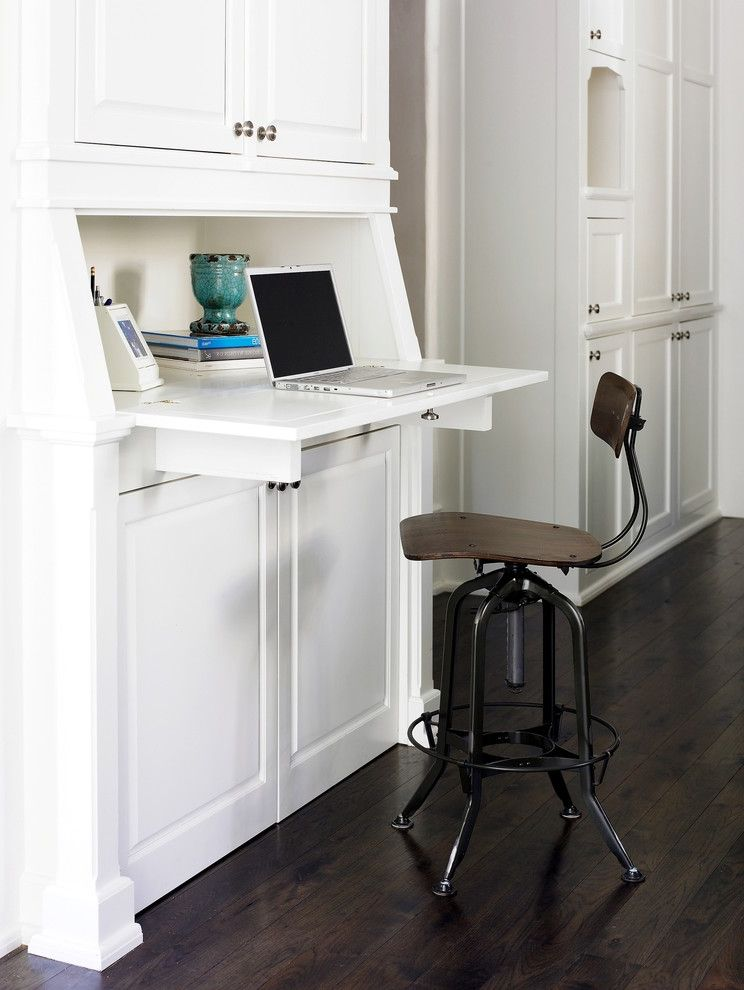 Pottery Barn Secretary Desk With Traditional Kitchen And