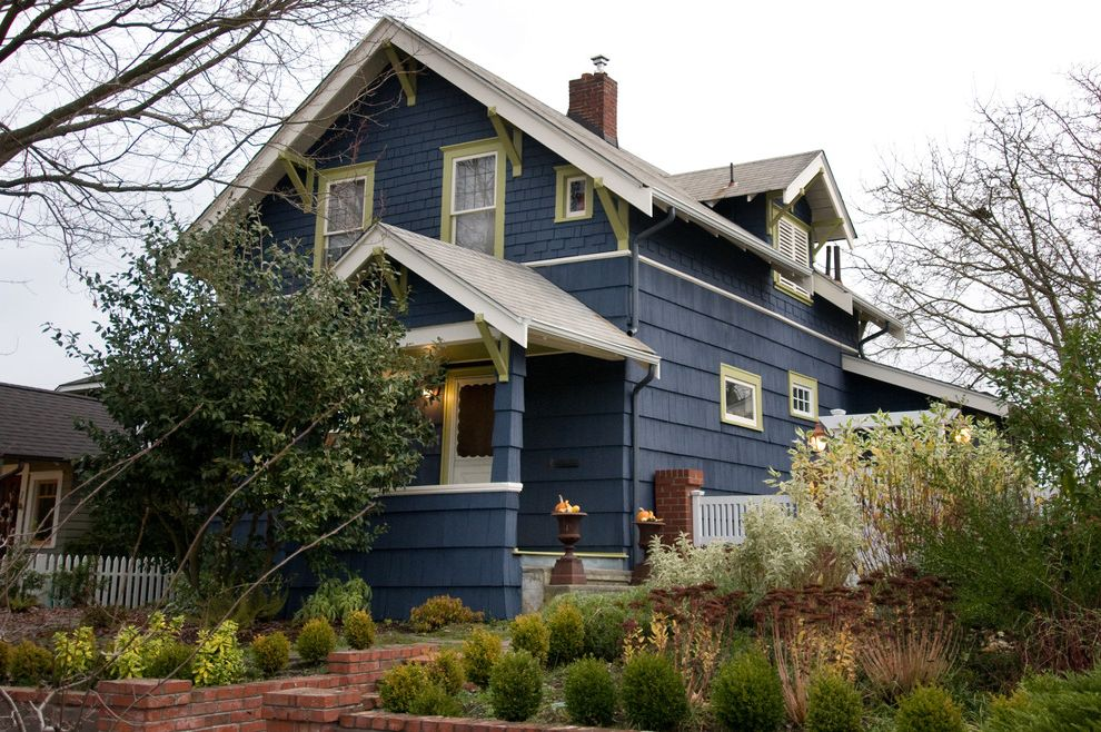 Pratt And Lambert Paint Reviews Traditional Exterior And Blue House Cottage Craftsman Dormer