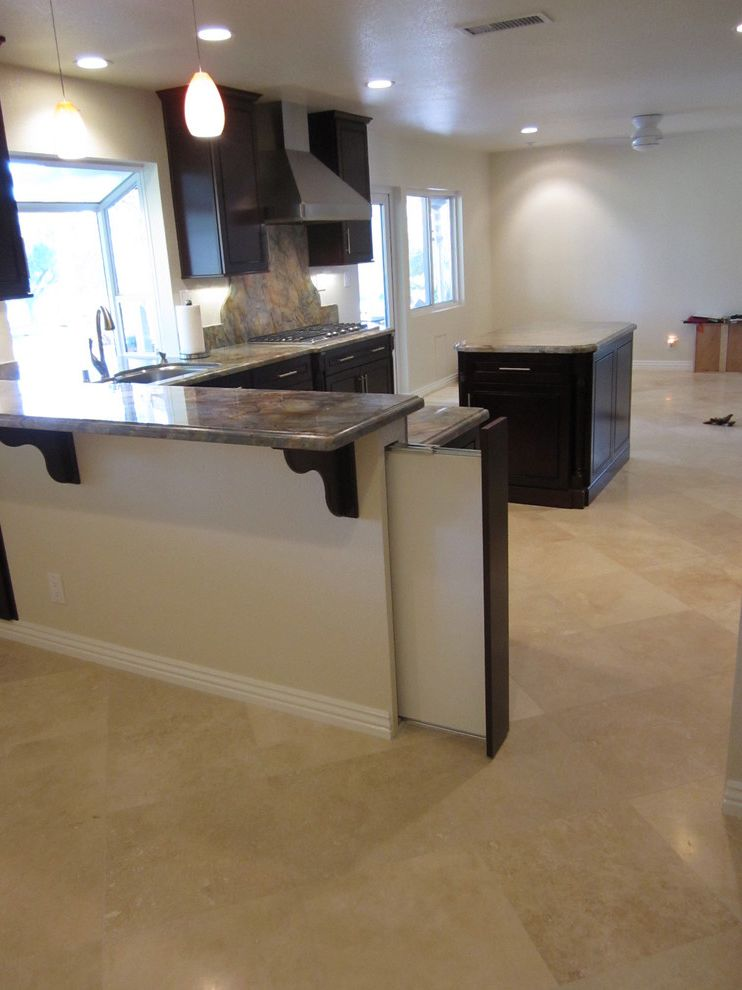 Pressure Mounted Dog Gates   Mediterranean Kitchen Also Kitchen Remodel Kraftmaid Cabinetry The
