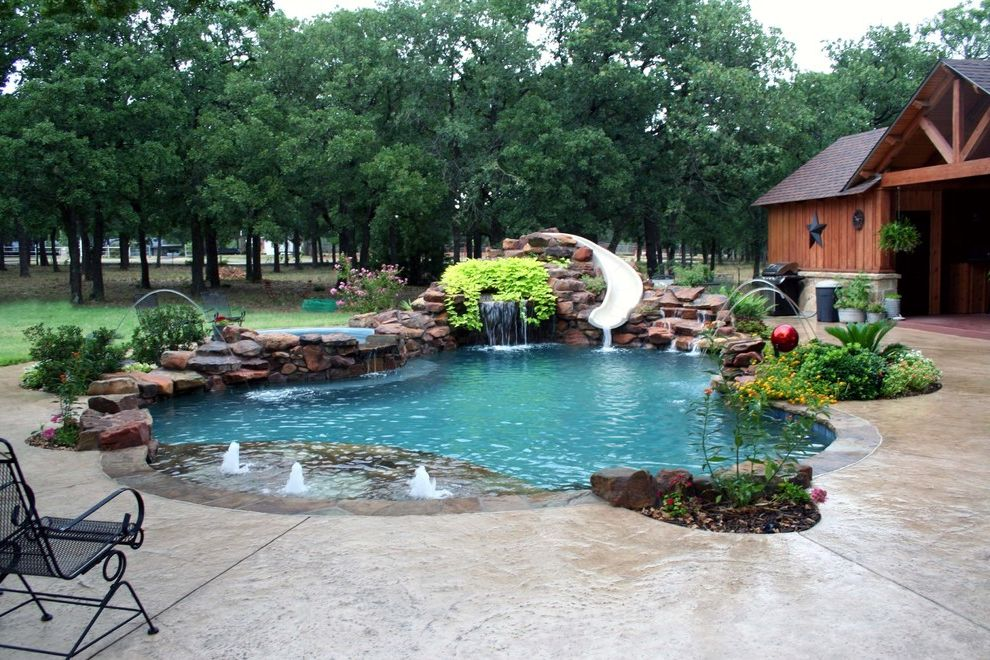 Pulliam Pools with  Pool  and Jets Pool Slide Swimming Tanning Ledge Water