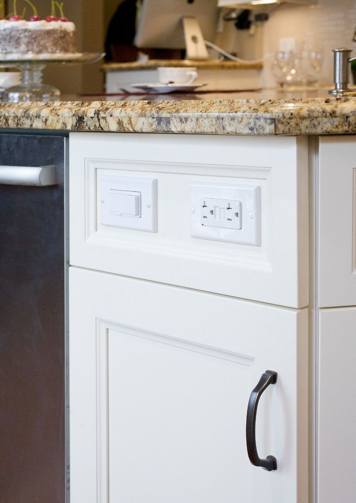 Push Button Dimmer Switch with Transitional Kitchen Also Transitional