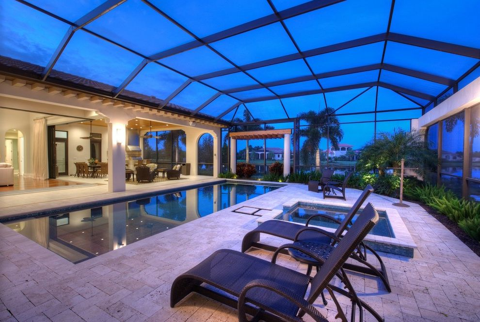 Rani Spa Fairfax with Transitional Pool Also Dark Pool Dusk Enclosed Swimming Pool Glass Roof Gray Stone Pool Surround Greenhouse Roof Indoor Swimming Pool Lap Pool Lap Swimming Palm Trees Pergoal Rafters Square Spa