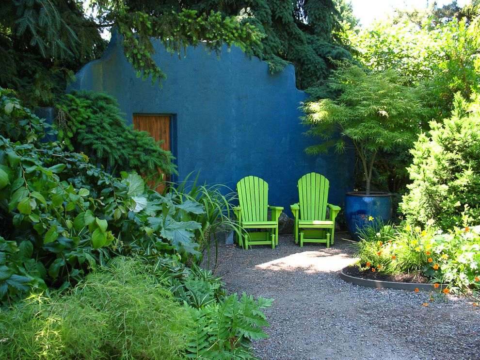Colored Walls In The Garden $style In $location