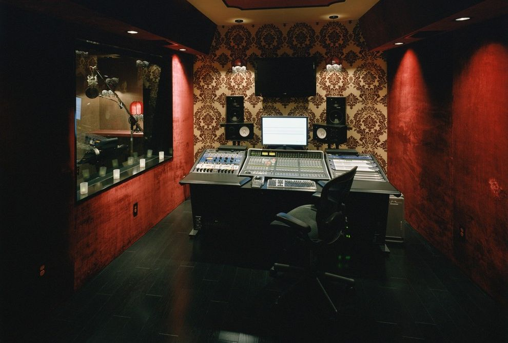 Recording Studio Sacramento with Modern Home Office  and Modern