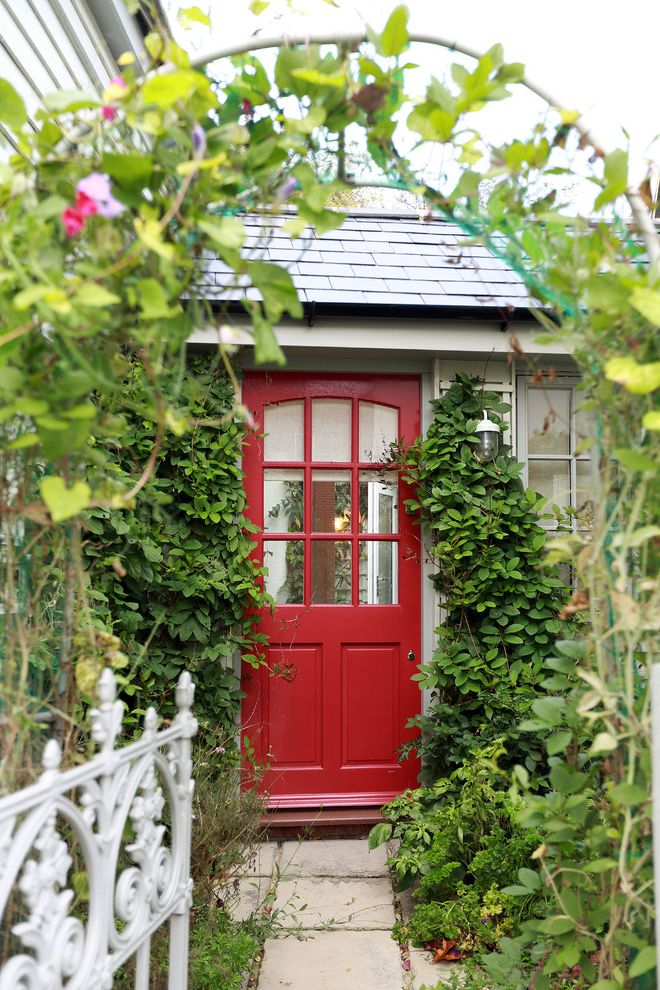 Red Door Consignment with Traditional Entry Also Barn Cottage Cottage Door Country Courtyard Eclectic Entrance Front Door Front Door Colour Garden Path Red Front Door