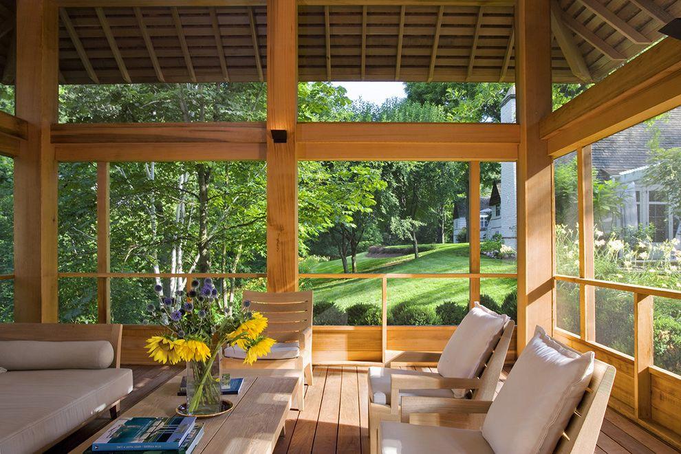 Red Hook Pool with Contemporary Porch Also Cedar Arbor Cedar Deck Cedar Siding Pool House