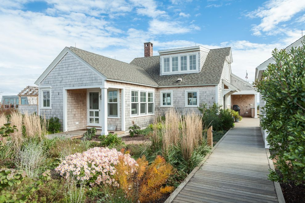 Redd Pest Control   Beach Style Exterior  and Dormer Window Landscaping Shingle Roof Shingle Siding Waterfront White Trim