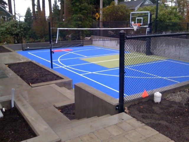 Regulation Volleyball Court with Contemporary Home Gym Also Basketball Concrete Contemporary Hockey Sport Court Tennis Volleyball