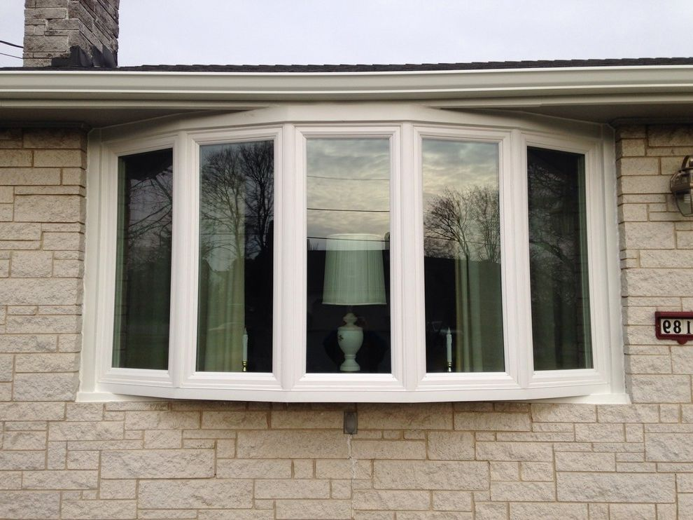 Reliabilt Windows with Contemporary Exterior  and Bow Window Windows