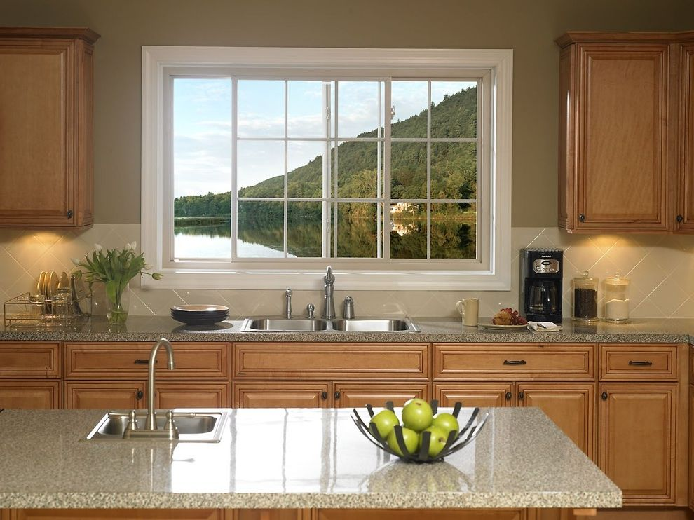Reliabilt Windows with Contemporary Kitchen  and Reilabilt Replacement Sliding Vinyl Windows