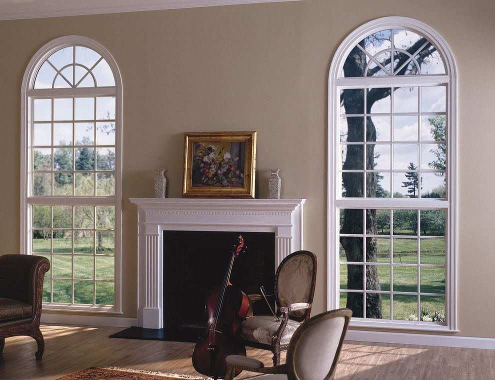 Reliabilt Windows with Traditional Living Room Also Double Hung Reliabilt Replacement Shapes Vinyl Windows