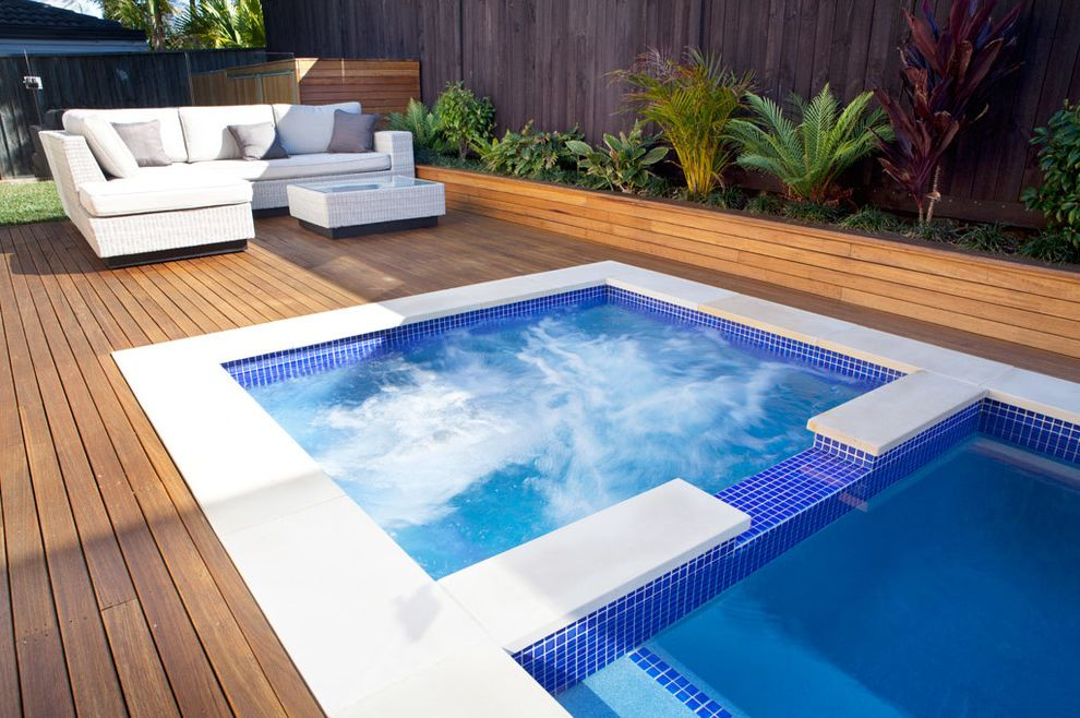 Reliable Pools   Contemporary Pool Also Plunge Pool Spa Pool Spa Spillover Swimming Pools Spas Swimming Pools and Spas