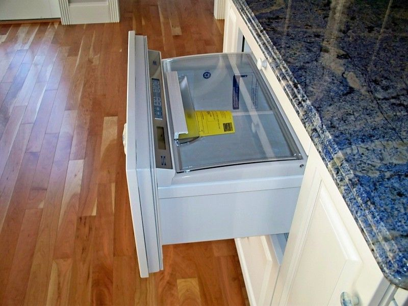 Residential Ice Maker with Traditional Kitchen  and Freezer Drawer Freezer Drawers Hidden Freezer Integrated Appliances Integrated Freezer Paneled Appliances Paneled Freezer Paneled Fridge Refrigerator Drawer Refrigerator Drawers