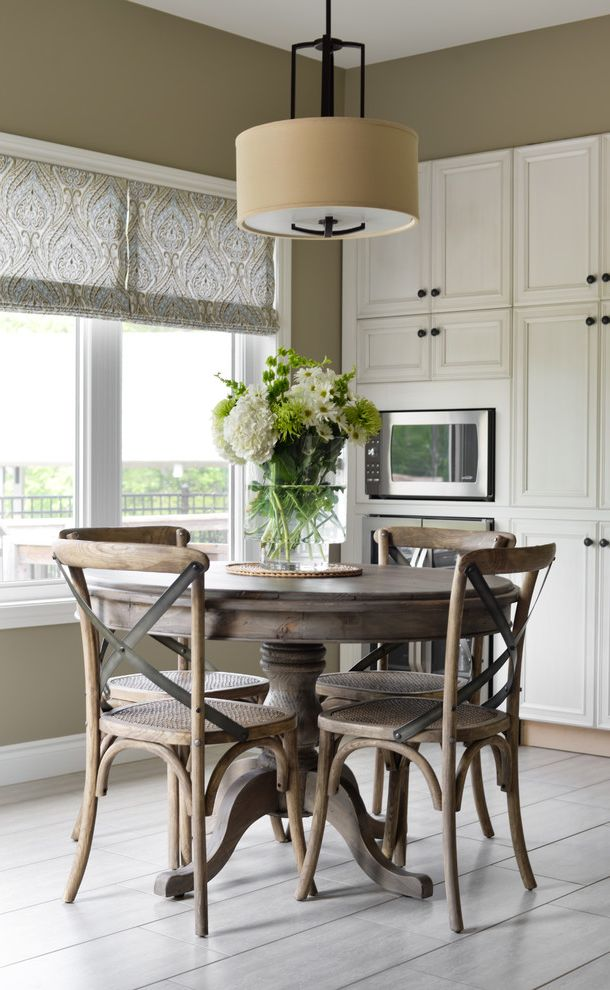 Restoration Hardware Professor Chair With Beach Style Dining Room Also Built In Cabinets Patterned Shades Pendant