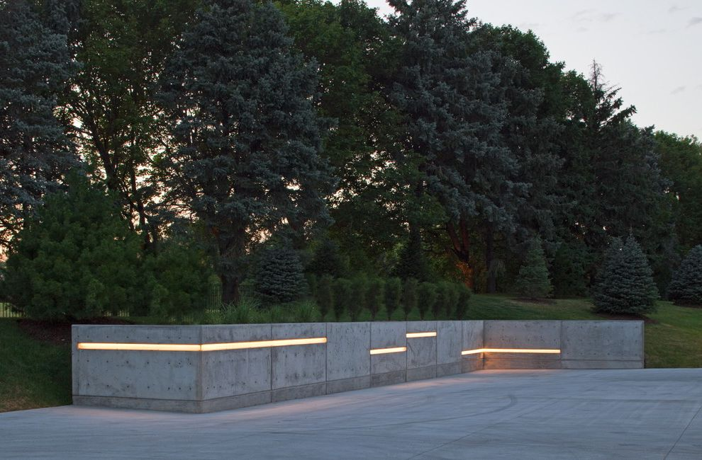 Retaining Walls Omaha Ne with Contemporary Landscape  and Bollards Concrete Lighting Concrete Wall Driveway Lights Landscape Lighting Landscape Lights Led Exterior Lights Outdoor Lighting Strip Lighting