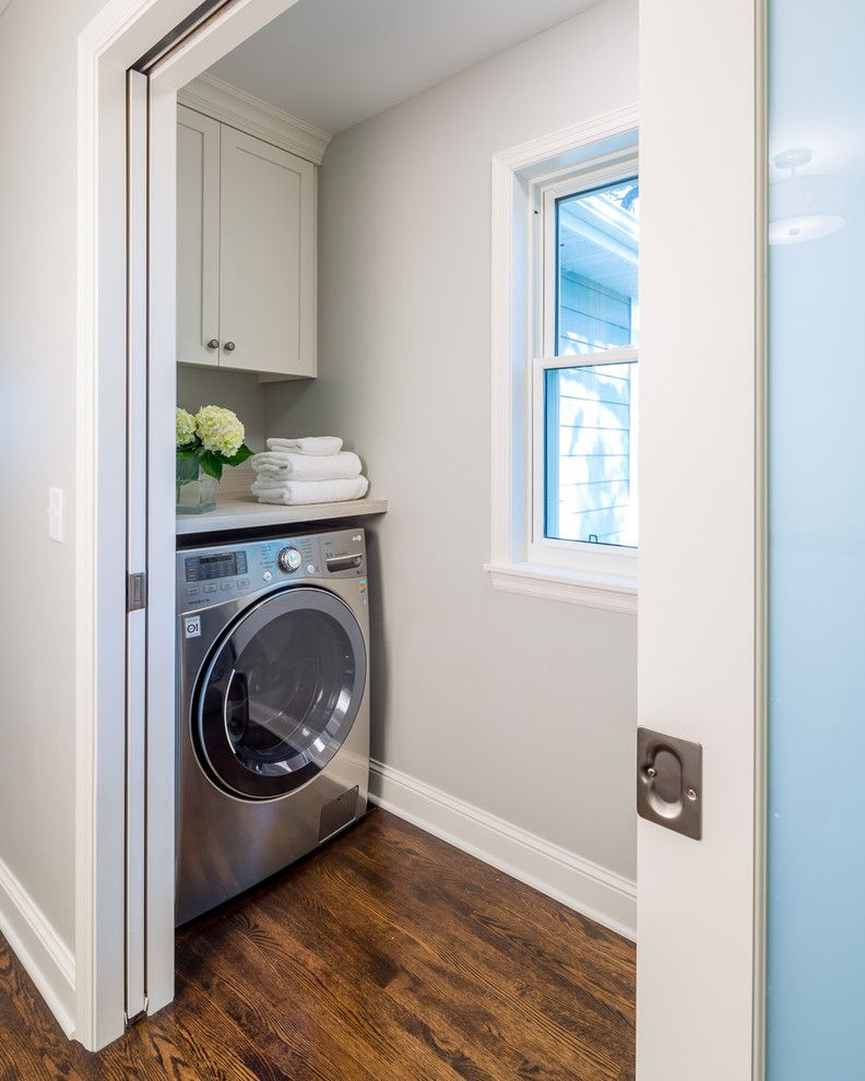 Right Away Disposal   Traditional Laundry Room  and Pocket Door Remodel Whole House