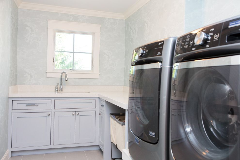 Riverstone Quartz   Farmhouse Laundry Room Also Farmhouse