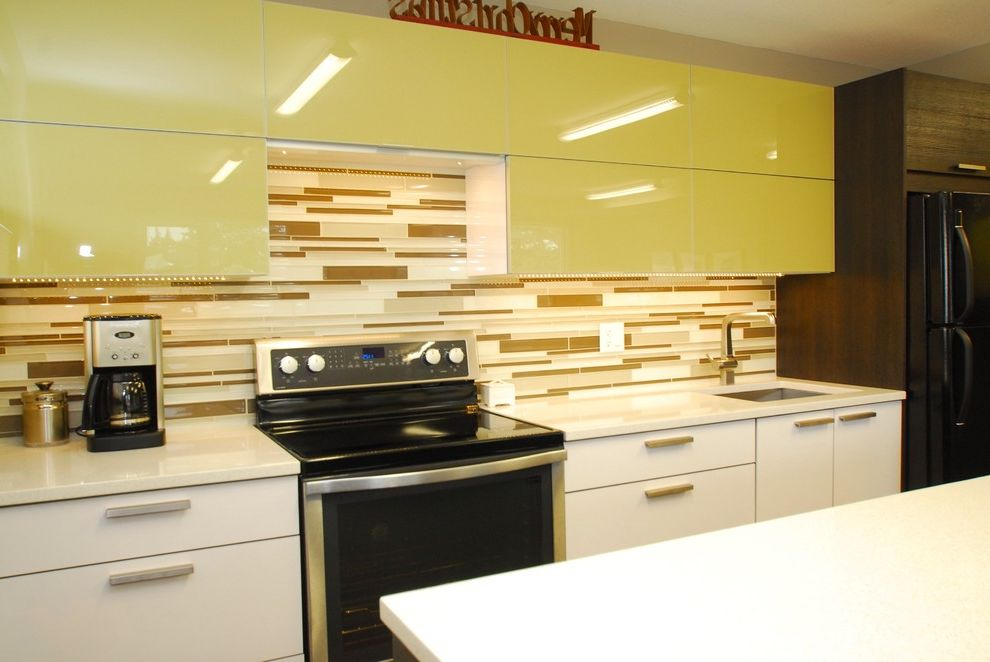 Riverstone Quartz with Contemporary Kitchen  and Contemporary
