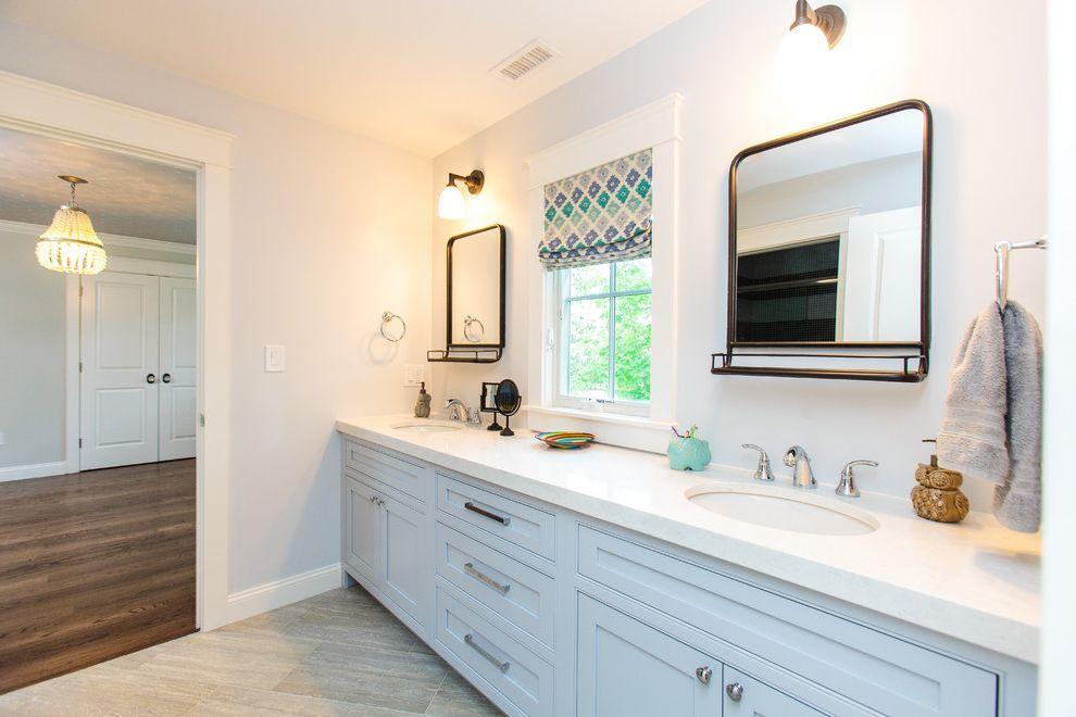 Riverstone Quartz with Farmhouse Bathroom  and Farmhouse