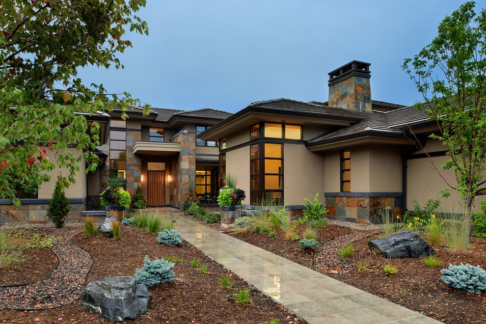 Rock Solid Stone Center   Contemporary Exterior  and Contemporary Craftsman Craftsman Mulch Updated Craftsman