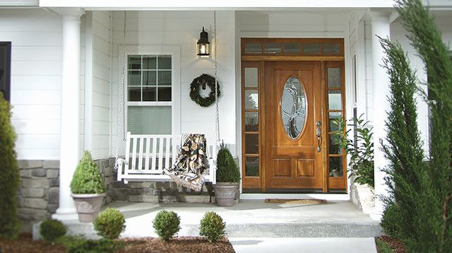 Rogue Valley Doors with Traditional Exterior Also Exterior Door Fir Fir Door Fir Wood Fir Wooden Door Front Door Front Porch Glass Door Porch Swing Rogue Valley Rogue Valley Door Sidelight Transom White House Willow Glass