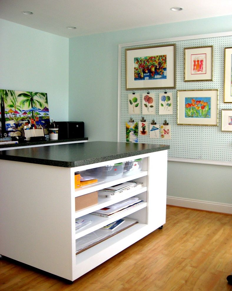 Rolling Whiteboard   Modern Home Office Also Art Studio Beautiful Home Office Beautiful Home Offices Home Office Home Office Ideas Laura Trevey Organization Organized Home Office Organized Office Pegboard Ideas Small Home Offices