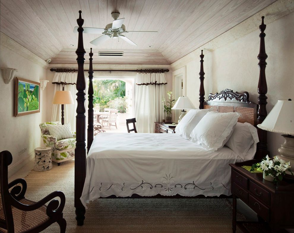 Romantic Comforters with Shabby Chic Style Bedroom Also Arm Chair Bedroom Ceiling Fan Dark Wood Four Poster Bes Lace Patio Patio Door Romantic Romantic Curtain Tropical White Curtain Wood Bed Wood Ceiling