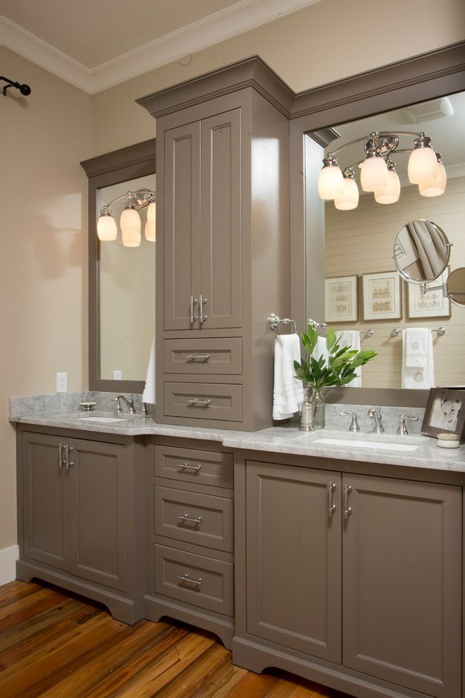 Roof Center Baltimore with Farmhouse Bathroom  and Bathroom Storage Charleston Country Custom Double Sinks Formal Hilton Head Historical Low Country Model Open Regency Savannah Timeless Traditional Wall Mirrors Wall Sconces