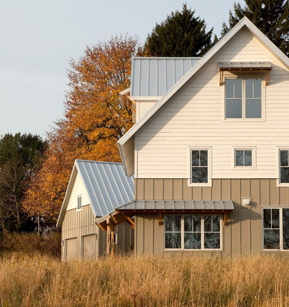 Roof Center Baltimore with Farmhouse Exterior  and Brightbuilt High Performance Net Zero