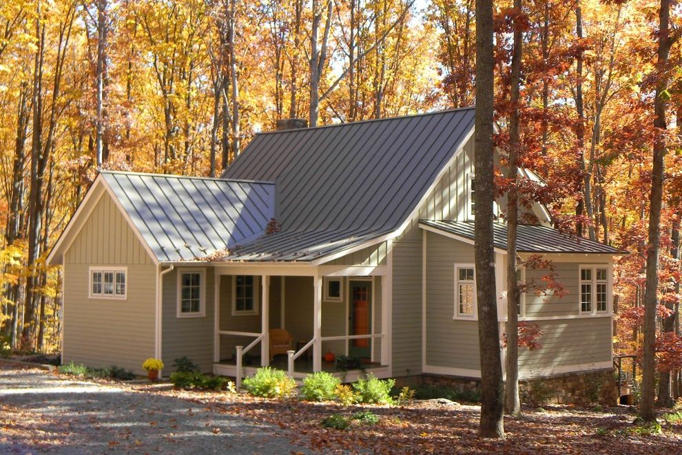 Roof Center Baltimore with Traditional Exterior Also Albemarle Bundoran Charlottesville Cottage Downsizing Energy Efficient Front Porch Metal Roof Siding Small Standing Seam Roof Sustainable Traditional Vernacular Woods Woodsy
