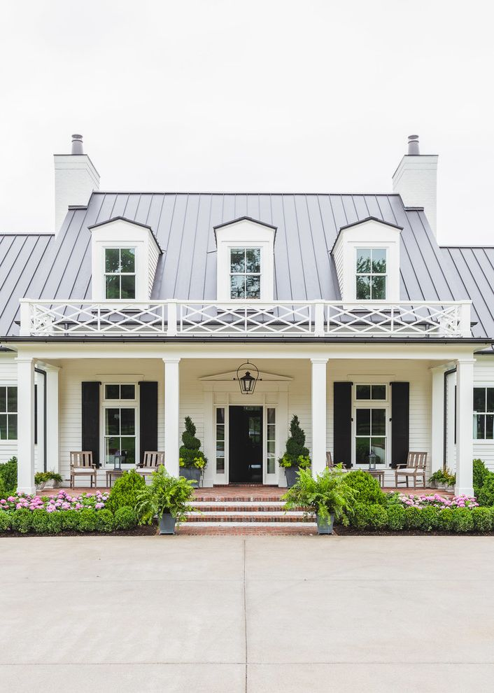 Roofing Companies Nashville Tn with Traditional Exterior  and Columns Dormer Windows Entry Metal Roof Paired Chimneys Porch Railing Shutters Sidelights Standing Seam Roof White House