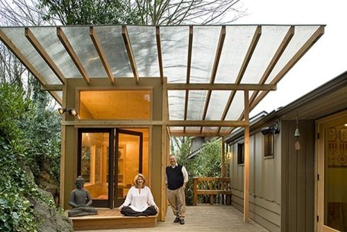 Roofing Contractors Orlando Fl   Modern Shed Also Glass Roof Meditation Space Opposite of a Man Cave Outdoor Hut Private Spaces for Women Spaces for Woman Special Roof Womans Hut