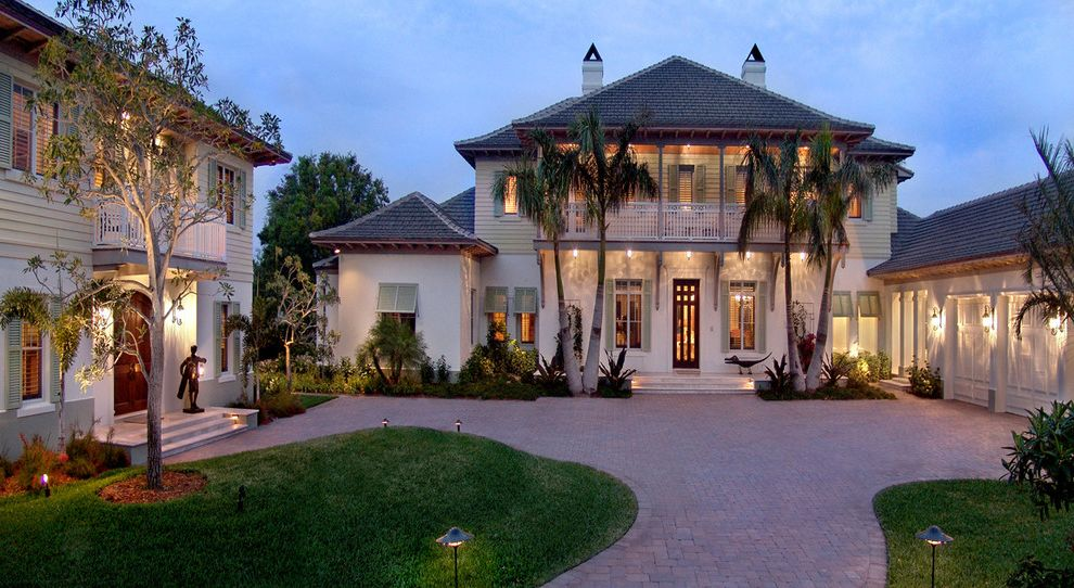 Roofing Contractors Orlando Fl   Tropical Exterior Also Formal Front Entrance Front Door Front Entrance Garage Landscape Porch Shingle Roof Siding Terrace Tropical Landscape