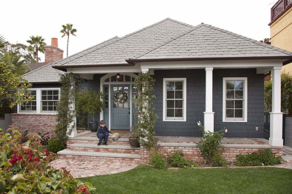 Roofing San Rafael   Traditional Exterior Also Beach Cottage Brick Classical Coastal Dutch Door Guest House Hip Roof New England Remodel Seaboard Shingle Siding Square Columns Traditional Transom Window White Trim