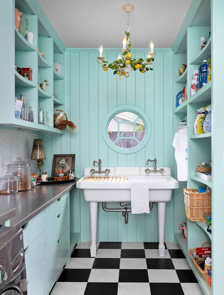 Round Top Antique Show with Eclectic Laundry Room  and Aqua Blue Bold Charming Colorful Contemporary Creative Custom Millwork English Garden Entertain Hot Pink Landscape Modern Port Windows Red Renovation Trellis Warm White Yellow