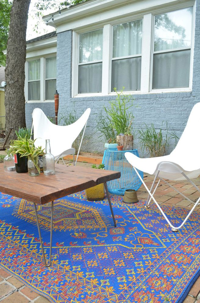 Rugs at Home Depot   Eclectic Patio  and Blue Brick Bright Blue Rug Chair Comfort Container Dallas Diy Eclectic Fresh Metal Midcentury Modern Plants Porch Raised Beds Retro Rug Salvage Shed Side Table Sling Southwest Texas Textile Tool Vintage White Wire