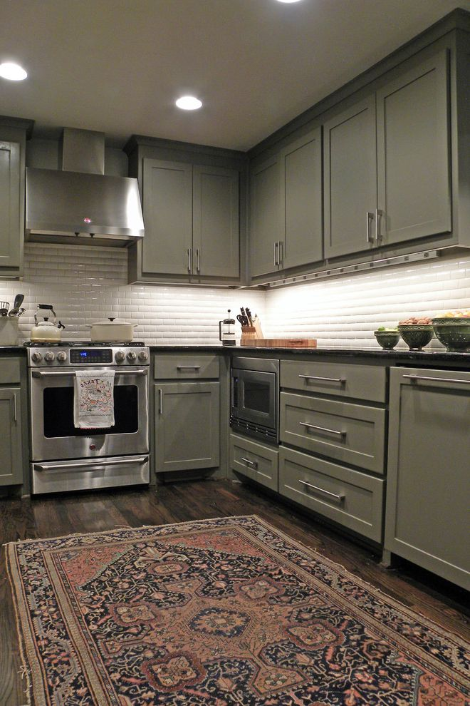 Rugs at Home Depot with Eclectic Kitchen Also Area Rug Cabinets Gray Oven Persian Rug Subway Tile