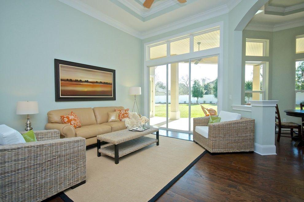 Ruth's Chris Jacksonville   Beach Style Living Room  and Coastal Home Decor Coastal Home Design Grey Wash Furniture Jacksonville Beach Wicker Furniture