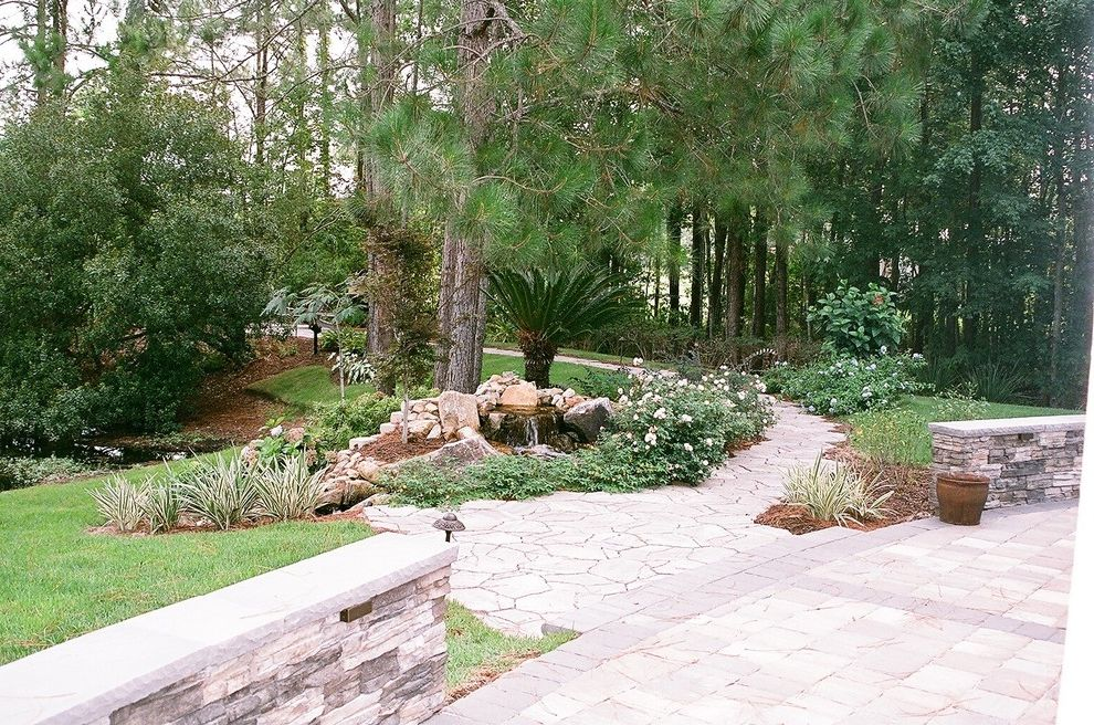Ruth's Chris Jacksonville with Traditional Landscape Also Brick Pavers Garden Seat Wall Pondless Water Feature Stone Veneer